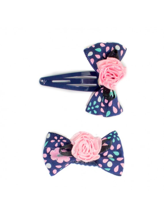 barrette noeud bleu miss princesse