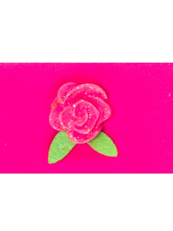bandeau fleur rose miss princesse