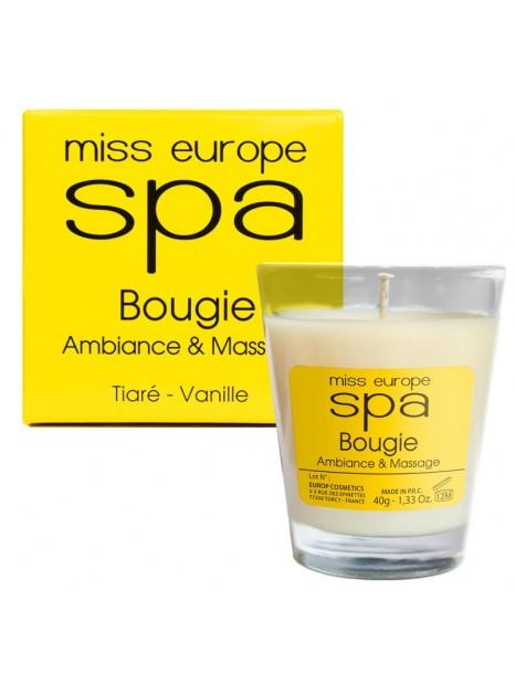 bougie massage tiaré vanille spa